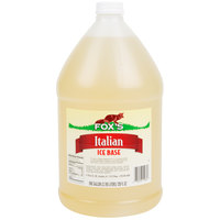 Fox's 1 Gallon Neutral Italian Ice Syrup Base - 4/Case