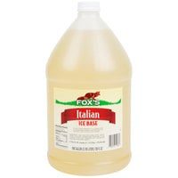 Fox's Neutral Italian Ice Syrup Base - (4) 1 Gallon Containers / Case