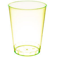 Fineline Savvi Serve 410-Y 10 oz. Tall Neon Yellow Hard Plastic Tumbler - 500/Case