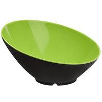 GET B-792-G/BK Brasilia 24 oz. Green and Black Slanted Melamine Bowl