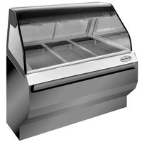 Alto-Shaam ED2SYS-48 SS Stainless Steel Heated Display Case with Curved Glass and Base - Full Service 48 inch