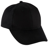 Chef Revival H067BK Black 100% Cotton Custom Embroidered Baseball / Chef Cap