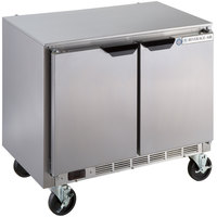 Beverage-Air UCR34Y 34 inch Shallow Depth Low Profile Undercounter Refrigerator