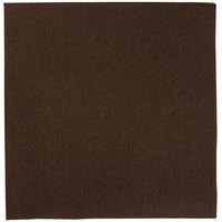 Hoffmaster FashnPoint Brown Linen-Feel Dinner Napkin, 1/4 Fold, 15 1/2 inch x 15 1/2 inch - 800/Case