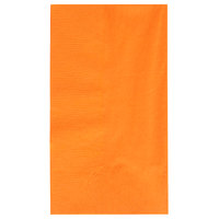 "Orange Paper Dinner Napkin, Choice 2-Ply, 15"" x 17"" - 125/Pack"