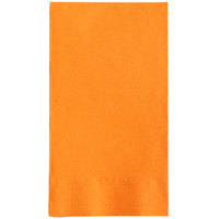 Choice 15 inch x 17 inch Customizable Orange 2-Ply Paper Dinner Napkin - 125/Pack