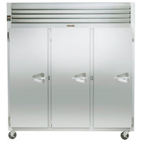 Traulsen G31013 77 inch G Series Three Section Solid Door Reach in Freezer with Left Hinged Doors
