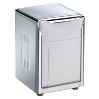 San Jamar H985XC Lowfold Two-Sided Tabletop Napkin Dispenser - Chrome