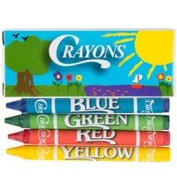 Choice 4 Pack Kids Restaurant Crayons - 100/Pack