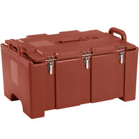 Cambro 100MPC402 Camcarrier Red Brown Top loading Pan Carrier with Handles for 12 inch x 20 inch Food Pans