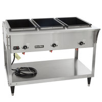 Vollrath 38213 ServeWell SL Electric Three Pan Hot Food Table 120V - Sealed Well
