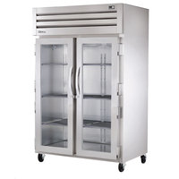 True STR2R-2G Specification Series Two Section Reach In Refrigerator with Glass Doors - 56 Cu. Ft.