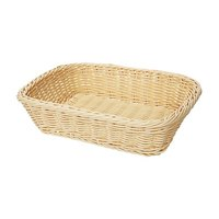 GET WB-1508-N Designer Polyweave 11 1/2 inch x 8 1/2 inch x 2 3/4 inch Natural Rectangular Plastic Basket