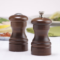 Chef Specialties 04100 Professional Series 4 inch Customizable Capstan Walnut Pepper Mill and Salt Shaker