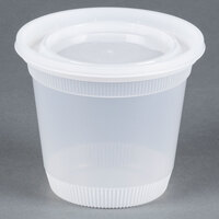 Newspring DELItainer L8328 32 oz. Translucent Round Squat Deli Container Combo Pack - 200 / Case