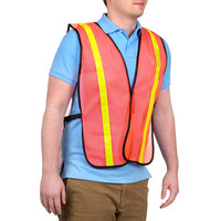 Orange High Visibility Safety Vest with 1 inch Reflective Tape