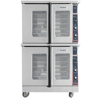 Garland MCO-ES-20 Double Deck Standard Depth Full Size Electric Convection Oven - 240V, 1 Phase, 20.8 kW