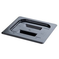 Cambro 60CWCH110 Camwear 1/6 Size Black Polycarbonate Handled Lid