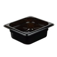Cambro 62HP110 H-Pan™ 1/6 Size Black High Heat Plastic Food Pan - 2 1/2 inch Deep