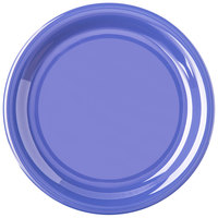 Carlisle 4300814 Durus 6 1/2 inch Ocean Blue Narrow Rim Melamine Plate - 48/Case