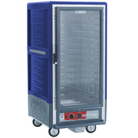 Metro C537-HFC-4-BU C5 3 Series Heated Holding Cabinet with Clear Door - Blue