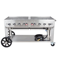 Crown Verity MCB-60 Natural Gas Portable Outdoor BBQ Grill / Charbroiler