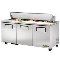 True TSSU-72-18 72 inch 3 Door Sandwich / Salad Prep Refrigerator