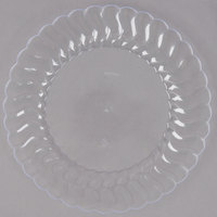 Fineline Flairware 207-CL 7 1/2 inch Clear Plastic Plate - 18/Pack