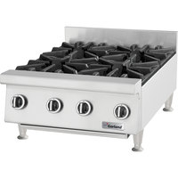 Garland GTOG24-4 Natural Gas 4 Burner 24 inch Countertop Range - 120,000 BTU