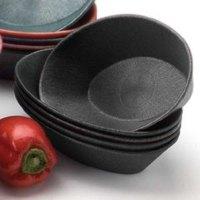 HS Inc. HS1011 9 inch x 5 1/2 inch x 2 inch Charcoal Polyethylene Oval Basket - 24/Case