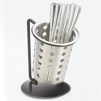 Cal Mil 1226-39-PERF Iron Cylinder Display with Perforated Cylinder - 6 inch x 6 inch x 6 inch