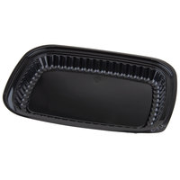 D&W Fine Pack I28 10 3/8 inch x 7 3/8 inch x 1 1/8 inch Black Take Out Platter 500/Case