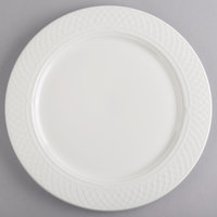 Homer Laughlin 8806900 Kensington Ameriwhite 11 inch Bright White China Plate - 12/Case