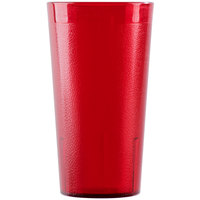 Cambro 1600P2156 Colorware 16.4 oz. Ruby Red Plastic Tumbler - 24/Case
