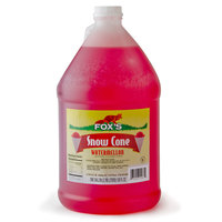 Fox's 1 Gallon Watermelon Snow Cone Syrup   - 4/Case