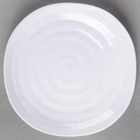 Carlisle 4341002 Terra 9 inch White Square Melamine Plate - 24/Case