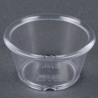 GET ER-025-CL Clear 2.5 oz. Smooth Plastic Ramekin 12 / Pack