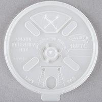 Dart 16FTLS Translucent Lift'n'Lock Lid With Straw Slot - 100/Pack