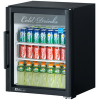 Turbo Air TGM-5SD Super Deluxe Black Countertop Display Refrigerator with Swing Door