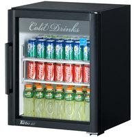 Turbo Air TGM-5SD Super Deluxe Black Countertop Display Refrigerator with Swing Door