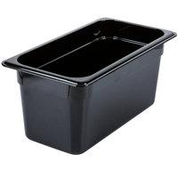 Carlisle 3086203 StorPlus 1/3 Size Black High Heat Plastic Food Pan - 6 inch Deep