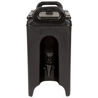 Cambro 250LCD110 Camtainer 2.5 Gallon Black Insulated Beverage Dispenser