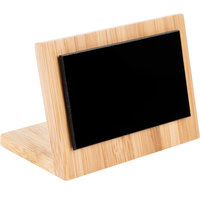 Cal-Mil 1103-23-60 3 inch x 2 inch Bamboo Framed Write On Board