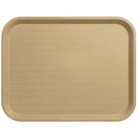 Carlisle CT141806 Customizable Cafe 14 inch x 18 inch Beige Standard Plastic Fast Food Tray - 12/Case