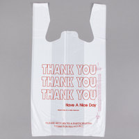 1/6 Size White Thank You Plastic T-Shirt Bag   - 700/Case