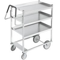 Vollrath 97201 Heavy-Duty Stainless Steel 3 Shelf Utility Cart - 39 inch x 20 inch x 44 1/2 inch