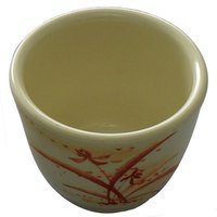 Thunder Group 9752 Gold Orchid 4 oz. Melamine Mug - 12/Case