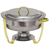Carlisle 609530 4 Qt. Nina Stainless Steel Round Chafer