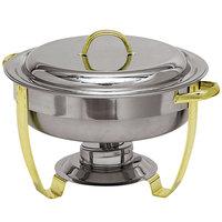 Carlisle 609530 4 Qt. Nina Stainless Steel Round Chafer
