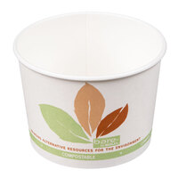 Bare by Solo V516PL-JF522 Leaf Print 16 oz. Eco-Forward Paper Soup / Hot Food Cup   - 500/Case